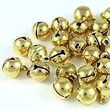 100x Glöckchen Schellen Glocken aus Kupfer - 11x7 mm - Kleenes Traumhandel (Gold Farbend)