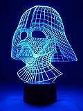 Originelle 3D LED-Lampe Darth Vader - die dunkle Macht Motiv-Tischlampe als Wohnlicht im Wohnzimmer