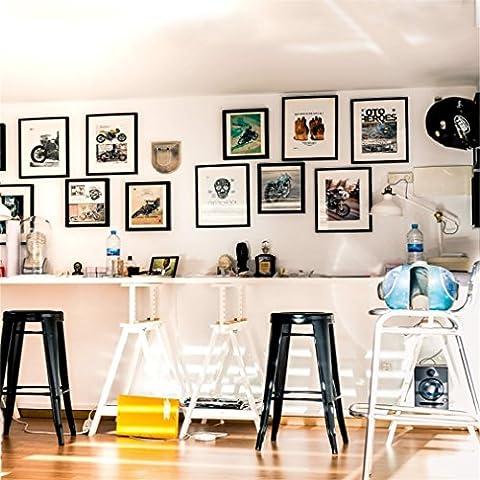 Aaloolaa Photographie Fond 1.8x 1.8m Style Studio photo Toile de fond pour moto cadres photo Ornements tabourets moderne Mode Décoration intérieure Homme adulte garçon Portrait Props Enregistrement de vidéos