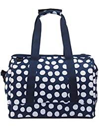 Yoovi Large Capacity Handbag Diaper Tote Bag With Insulated Bottle Pocket