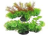 Xiaomai künstliche Aquarium Pflanzen Set mit Hydrocotyle vulgar