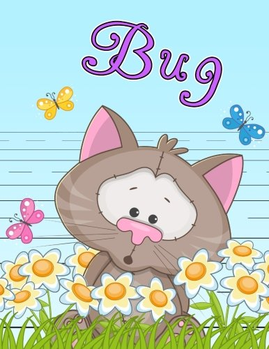 Bug: Primary Writing Tablet for Kids Learning to Write, Personalized Book with Child's Name for Girls and Boys, 65 Sheets of Practice Paper, 1