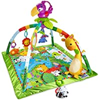 Fisher-Price DFP08 Rainforest Gym, Baby Playmat with Music and Lights, Suitable from Birth for New-Borns - ukpricecomparsion.eu