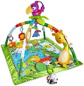 Fisher-Price Gimnasio Deluxe animalitos de la Selva, bebé +0 Meses(Mattel DFP08)