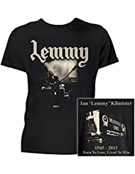 Motorhead Homme T Shirt Noir Lemmy Born to Lose Lived to Win officiel