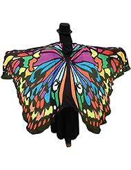 Bufanda mujer Sannysis Estolas Alas de mariposa 197 X 125CM (Color)