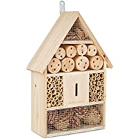 Andrew James Bee House & Bug Hotel for Garden - Attract Solitary Bees & Other Pollinators