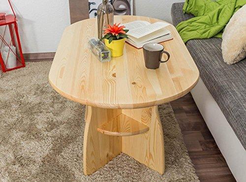 Clubtisch Couchtisch Wohnzimmertisch Kiefer Massivholz Farbe: Natur 60x115x70 cm
