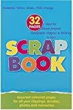 Large Scrapbook 21 x 33cm Colour Paper Pages School Home Clippings Sticking Photo Album Embellishment Kids Child Cutting Card Making Create Craft Activity Scrap Book