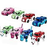 Bescita Welpe Faltbarc LKW DIY Spielzeug Auto | 3D Pädagogische Spielzeug, Car Kit Geschenk (A)