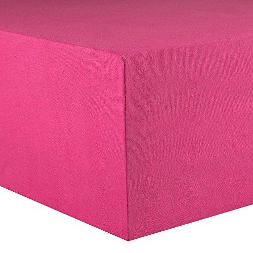 CelinaTex Lucina Spannbettlaken 180x200 - 200x200 pink Jersey Baumwolle Spannbetttuch Doppelbett Matratzen 0002815