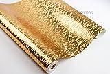 2m gold Bling 3D Mosaik Tapete Glitzer Metallic Luxus Glitzer Luminous Spiegel Glitzer