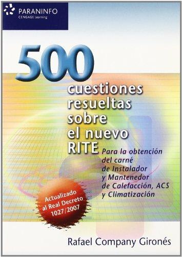 500 cuestiones resueltas sobre el nuevo rite por RAFAEL COMPANY GIRONES