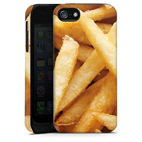 Apple iPhone X Silikon Hülle Case Schutzhülle Pommes Fritten Fast Food Tough Case matt