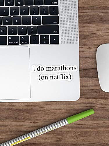 I Do Marathons. Hipster/Trendy/Tumblr Meme Sticker Window Vinyl Sticker for Cars, Trucks, Windows, Walls, Laptops (Longest Side 3