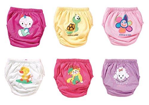 OZYOL origin-AL Home & Style Tierwelt 6er Pack Wasserdicht Baby Lernwindel Trainerhosen Unterwäsche Windeln Windelhose zum Toilettentraining Töpfchentraining (Set, 80)