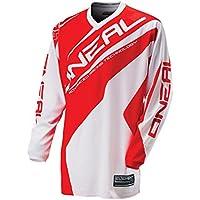 O'Neal Element MX Jersey RACEWEAR Weiß Rot Trikot, 0024R-31, Größe XL