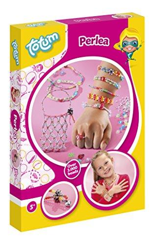 Totum Creativity Perlea Bastel-Set: Bastel Deine Perlenkreationen mit Gummibändern und Perlen - Spielen Schmuck-set Mädchen