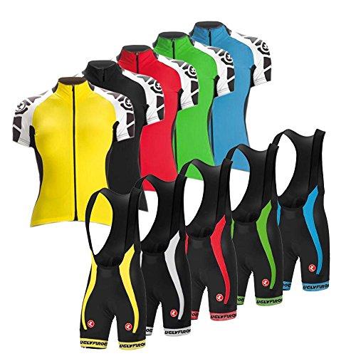 Uglyfrog 2018 Neue Radsport Anzüge Damen Short Trikots+ Bib Kurze Hosen with Gel Pad Summer Triathlon Clothes