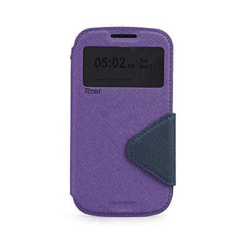"""S-VIEW BOOK CASE ROAR FANCY für Apple iPhone 7 4,7"""" Cover Handy Tasche Flipcase Etui Buchform Kunststoff Silikon Halterung für Kreditkarten (grün / dunkelblau) violet / dunkelblau"""