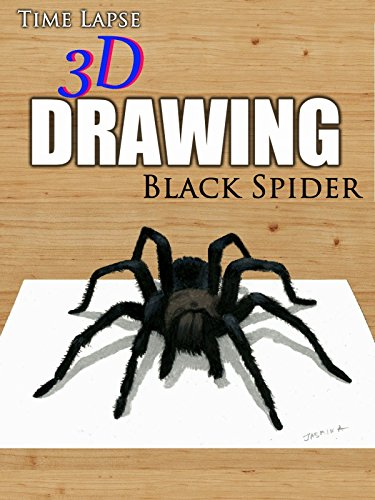 Clip: Time Lapse 3D Drawing: Black Spider [OV]