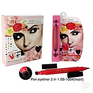 Swiss Beauty Star Impression Liquid Duo Eyeliner 2 in 1 (one side Eyeliner, one side Star tattoo)