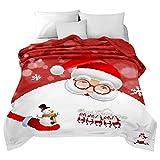 Shamdon Home Collection Weihnachten Stil 150x200CM Kuscheldecke Fleecedecke Wohndecke Bettbezug Sofa überwürfen Bett Stuhl Decke