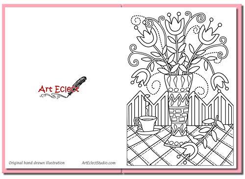 Art Eclect Biglietto Di Auguri Da Colorare Per Adulti Per Augurare