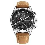 Reloj Para Hombre,Reloj Multifuncional Para el Calendario Para Hombres,Cronógrafo Correa Reloj...
