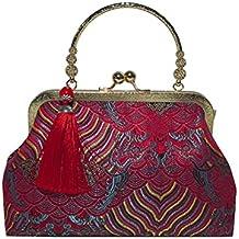 87b404b21 Bolso de bordado de la borla del bolso del bordado del estilo de la moda de