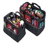 Paquete de bolsas de herramientas resistentes al agua Husky de 12 y 15 pulgadas (paquete de 2 piezas)