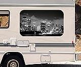 3D Autoaufkleber Skyline Sidney Stadt Australien schwarz weiß Wohnmobil Auto Fenster Motorhaube Sticker Aufkleber 21A578, Größe 3D sticker:ca. 45cmx27cm