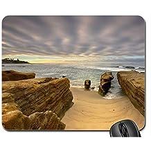 Sandstone and Sky, La jolla, California Mouse Pad, Mousepad (Beaches Mouse Pad)