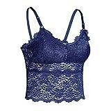 Higlles Women Solide Bra Tops Vest Lace Seamless Atmungsaktiv Push Up Unterwäsche
