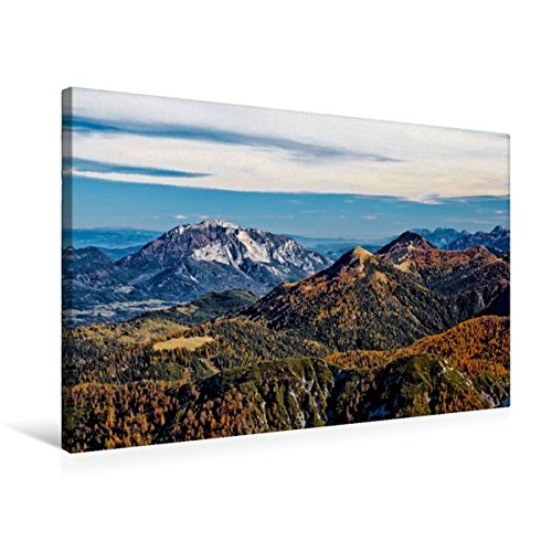 Premium Textil-Leinwand 75 cm x 50 cm quer, Blick vom Gartnerkofel   Wandbild, Bild auf Keilrahmen, Fertigbild auf echter Leinwand, Leinwanddruck (CALVENDO Natur)