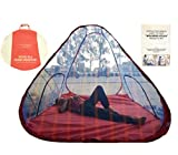 #7: Handicraft Mosquito Net Tent Style Foldable Washable 7/7 With Basecloth Nylon, Multi Colour, (213.36 X 213.36 CM)