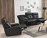 Microfaser Relax Schlafsofas Relaxsofas Fernsehsessel 5130-3+1-MS