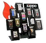 Zippo Feuerzeugsammler Aufbewahrungsschrank für 12 Feuerzeuge, abschließbar