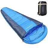 Homemaxs Mumienschlafsack 350GSM Leichtgewicht 3-4 Saisonen Schlafsack für Erwachsene, Camping, Wand (Schlafsack)