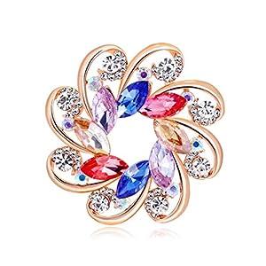 Cebilevin Kristall Bauhinia Frauen-Brosche & Schalclips Kleidung Dekorative Pin Tuchclip/Tuchspange/Trachtenspange/Trachtenbrosche
