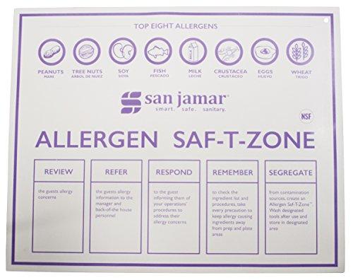 San Jamar CBMASZ2430 Tappetini Allergen Saf-T-Zone, Comprende: