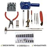 ACENIX Horloger 124pièces Kit d'outils de réparation inclus Ouvre-boîtier/barrette-ressort