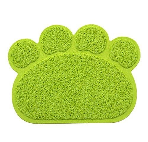 Ylen Zampa a Forma PVC Gatto Cane Coperta Stuoia Antiscivolo Animale Domestico Mat Litter Tovaglietta