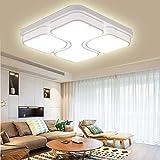 LED Modern Deckenlampe Deckenleuchte Quadrat Energiespar Wohnzimmer Schlafzimmer Korridor Acryl-Schirm Rahmen Flur Lampe Schlafzimmer Küche Energie Sparen Licht Durchbohrte Wandleucht (48W Kaltweiß)