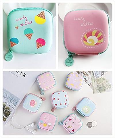 Chickwin Porte-monnaie Mini-mignon Petit sac carré Forfait créatif Mini sac simple Sac à bandoulière (au hasard)