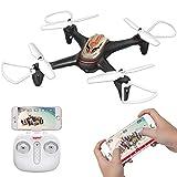DoDoeleph Syma Drohne X15W mit Kamera RC Quadcopter Gravity Control und Höhe Halten für Kinder (Schwarz)