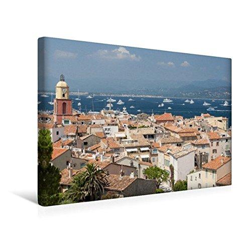 Preisvergleich Produktbild Premium Textil-Leinwand 45 cm x 30 cm quer, Saint-Tropez – Traumstadt an der Côte d'Azur | Wandbild, Bild auf Keilrahmen, Fertigbild auf echter ... Künstler und der High Society (CALVENDO Orte)