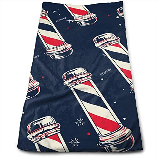 RAINNY Vintage Barber Pole Flag Cotton Bath Towels for Hotel-Spa-Pool-Gym-Bathroom - Super Soft Absorbent Ringspun Towels 30x70 cm Donut-pole-single