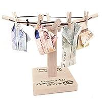 """Mini stendi-panni in legno - Un prodotto di qualità da """"Magische Geschenkbox"""" I regali in denaro sono popolari, ma consegnare una semplice busta con le banconote è a volte impersonale e fuori moda. ..."""