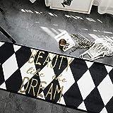XINGUANG Nordic Verdickung Rutschfeste Schlafzimmer Tür Matte Küche Bad Saugfähige Matten In Die Tür Matte Wohnzimmer Teppich Teppich (Farbe : Hot Seal, größe : 50 * 170cm)